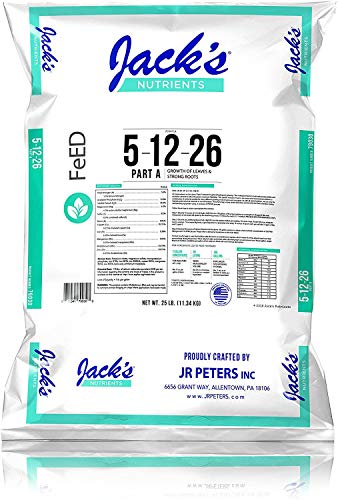 Jacks Hydroponic 5-12-26 25lb bag of fertilizer