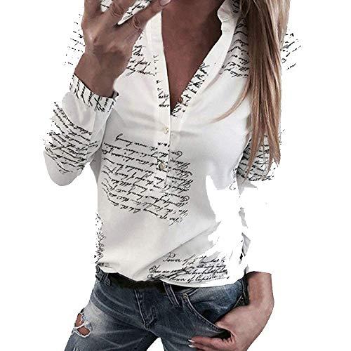 PowerFul-LOT Chemisier Femme Manches Longues T Shirt Rayures Verticales Chemise Femmes Chic Col en V Blouse Tunique Multicolore S-XXL