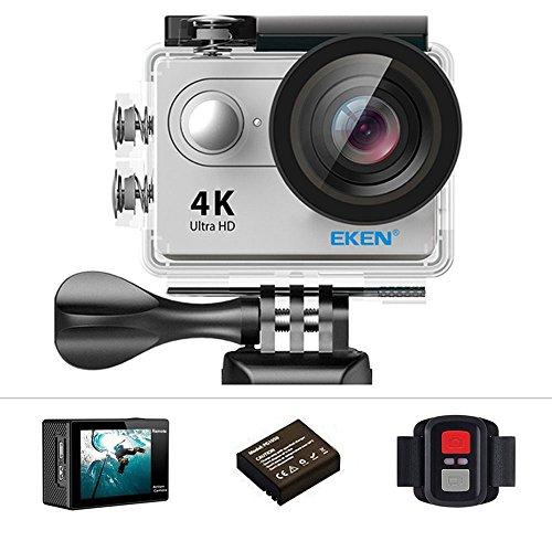 Eken h9r Action-Kamera 4 K 12 MP WLAN Sport-Ultra-HD Kamera, 30 m unter Wasser 170 ° Blickwinkel mit 2 Zoll-LCD-Bildschirm, 2,4 G-Fernbedienung - Silver