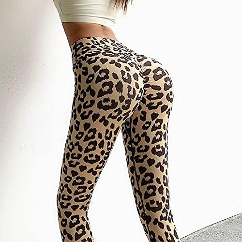Mujer Deporte Leggins Sexy Mallas Leggings De Leopardo Sexy Pantalones De Mujer Yoga Pantalones Deportivos Ajustados Elásticos De Cintura Alta Leggings L Yellowleopard