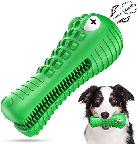 NOUGAT Squeaky Dog Chew Toys Heavy Chewers Dog Toys Indestructible Tough Dog Toys for Aggressive Chewers Large Breed Dog Teeth Cleaning Toys for Medium Large Dogs Green Crocodile