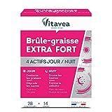 Vitavea – Brûle-graisse extra-fort – Guarana – Chrome – Marc de raisin – Queue de cerise – complément alimentaire minceur - 28 comprimés – Fabriqué en France