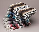 Ten 10 Large Authentic Mexican Falsa Blanket Throw Yoga Mexico Wholesale Pack Bulk
