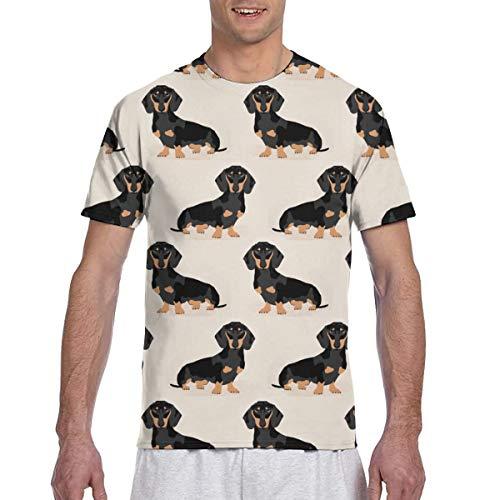 Zhgrong Hombres - Camisa Doxie Dachshund Weiner Perro Mascota Perros Camisa Hombres Camisetas Camisas Camisetas para Hombres Camisas para Hombres Camisetas Camisetas