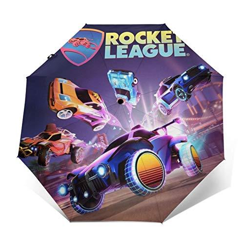 Paraguas plegables Rocket League Impresión de moda Unisex ligero plegable automático triple paraguas paraguas de sol portátils