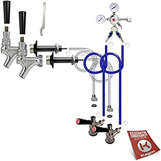 Kegco BF 2SCK Conversion Kit, 2 Faucet without Tank, Standard