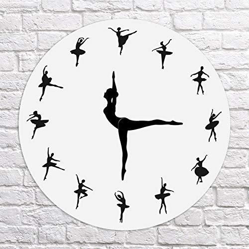 Wellouis Wall Clock,Ballerina Wall Clock, Ballet Dancing Wall Clock,Ballerina Record Orologio da Parete, Balletto Danzante Orologio da Parete Dancer Home Decor Regalo di Natale