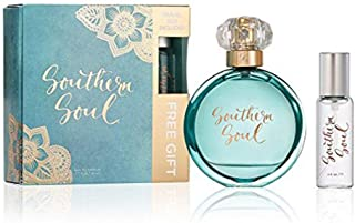 Southern Soul Perfume by Tru Fragrance and Beauty GIFT PACK - Fruity Floral fragrance - Fresh and Feminine Eau de Parfum with Travel Spray - 1.7 oz + 0.5 oz Mini