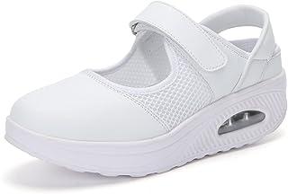 Zapatillas deportivas para mujer, ligeras, de malla, con cierre de velcro