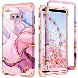 for Galaxy Note 9 case,PIXIU Unique Pattern Heavy Duty Shockproof 3 in 1 hybird Rubber stury Full-Body Protective case Cover for Samsung Galaxy Note 9 2018 Released Marble