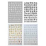 luosh 4 Colori/Set Nail Art Adesivi Decalcomanie autoadesive Russia Lettera Parola Numeri Vecchio Inglese Decalcomanie per Unghie per Donne Ragazze Gel Unghie Art Design