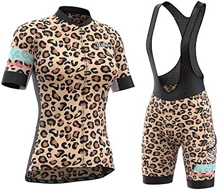 Women s Pro Series Leopard Print Cycling Short Sleeve Jersey Bib Shorts or Kit Bundle X Large product image