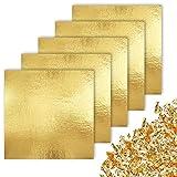 CZ Store Foglia Oro -✮GARANZIA A VITA✮- 100 Fogli di Imitazione Foglia d'Oro con Rifinitura...