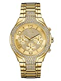 GUESS Women's Stainless Steel Crystal Accented Bracelet Watch
