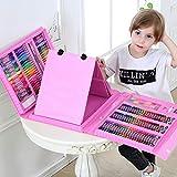 Deluxe Art Stationery Set, juego de herramientas de cepillo con caballete, herramientas de pintura para niños, regalo para niños, rosa, juego de regalo para niños, niños