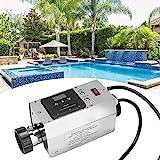 Pbzydu Termostato de Calentador de Piscina de 3KW, termostato de Calentador de Agua a Prueba de Agua Digital Inteligente de Acero Inoxidable para bañera de hidromasaje(UE)
