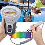 POHOVE Water Quality Tester,Portable Chlorine and PH Tester,PH&CL2 Tester Meter Chlorine Swimming Pool Test Kit for Aquarium,Pool,Spa,Hot Tub,Drinking Water, Laboratory,Home Brewing