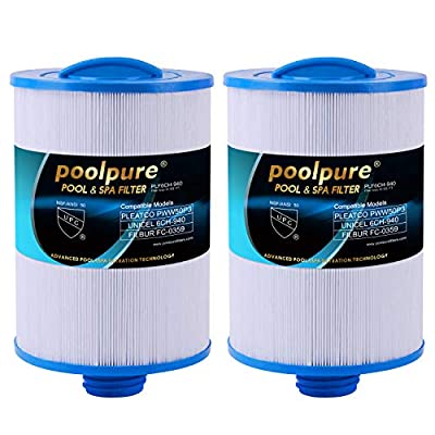 POOLPURE Spa Filters for Hot Tub, Replacement for Pleatco PWW50P3, PWW50, Filbur FC-0359, Waterway Plastics 817-0050, 25252, 378902, 03FIL1400, 2 Pack