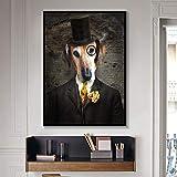 BailongXiao Elegante Cartel de Arte de Pared de Animales y patrón de Animales Lienzo Pintura Sala de Estar decoración del hogar,Pintura sin marcoCJX675-80X105cm