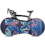 L.BAN Couverture de Roue de vélo Sweet-Heart, protéger la Couverture de vélo de Pneu de Vitesse - California Blue Girl College Surf Flower Graphics Navy Surfer Word