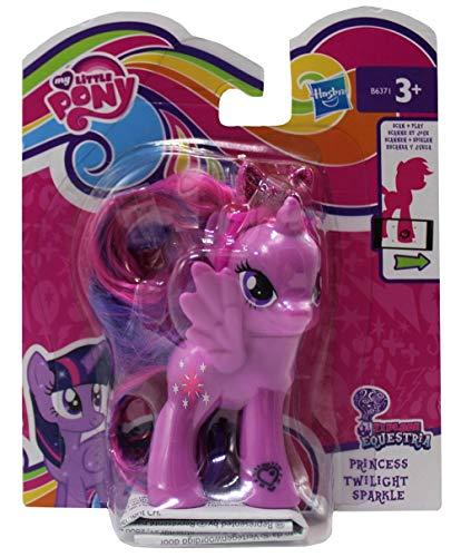 MLP My Little Pony Esplora la Figura di Equestria per Parrucchiere, con Pettine e Fascia Scintillante, codice sul Piede per l'APP, Figura di Gioco per Ragazze (Twilight Sparkle 2)