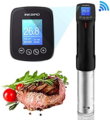 Inkbird Culinary Sous Vide Wi-Fi Precision Cooker, 1000W Immersion Circulator with Stainless Steel Components, Digital Interface, Temperature and Timer for Kitchen by