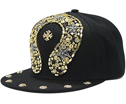 Zerci Hip-hop Spikes Spiky Remaches tachonado Botón Leopard Gorra ajustable Snapback (Estilo 3) (Ropa)