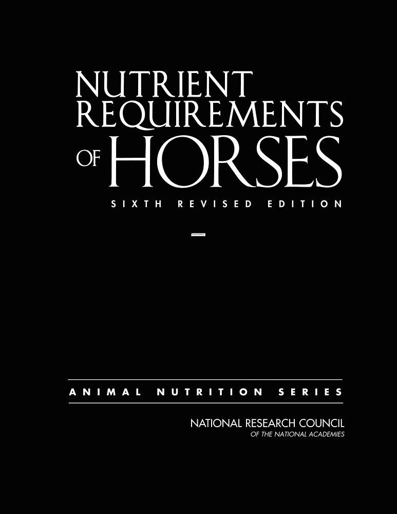 Image OfNutrient Requirements Of Horses: Sixth Revised Edition (Nutrient Requirements Of Animals)