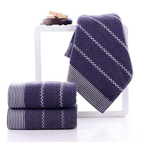 HIROCK Toalla de Uso Diario, 100% algodón de un Solo Hilo, Toalla súper Suave, Toalla de baño Altamente Absorbente (Azul Oscuro)
