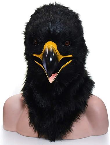 venta directa de fábrica WENQU Fiesta Fiesta Fiesta de Halloween y diversión. negro Eagle máscara de Boca móvil. (Color   negro, Talla   25  25)  marca en liquidación de venta
