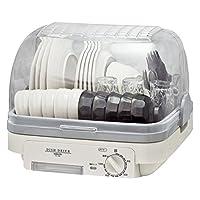 [山善] 食器乾燥器 (5人分) 120分 タイマー付き ライトグレー (自然対流式) (抗菌/防カビ) YD-180(LH) [メーカー保証1年]