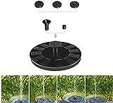 Bomba de fuente solar, fuente de agua con energía solar con 6 boquillas, bomba de estanque de solar flotante para baño de aves, jardín, estanque, piscina y tanque de peces (Tamaño : 2.5w)