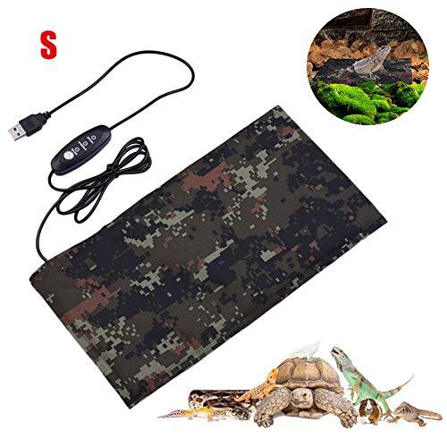Womdee Reptile Heating Pad, Reptilien-Heizkissen, wasserdichte USB-Reptilien-Heizkissen Lizard Terrarium-Heizkissen Beheiztes Haustierkissen für Gecko, Bartagame, Chamäleon, Kornnatter