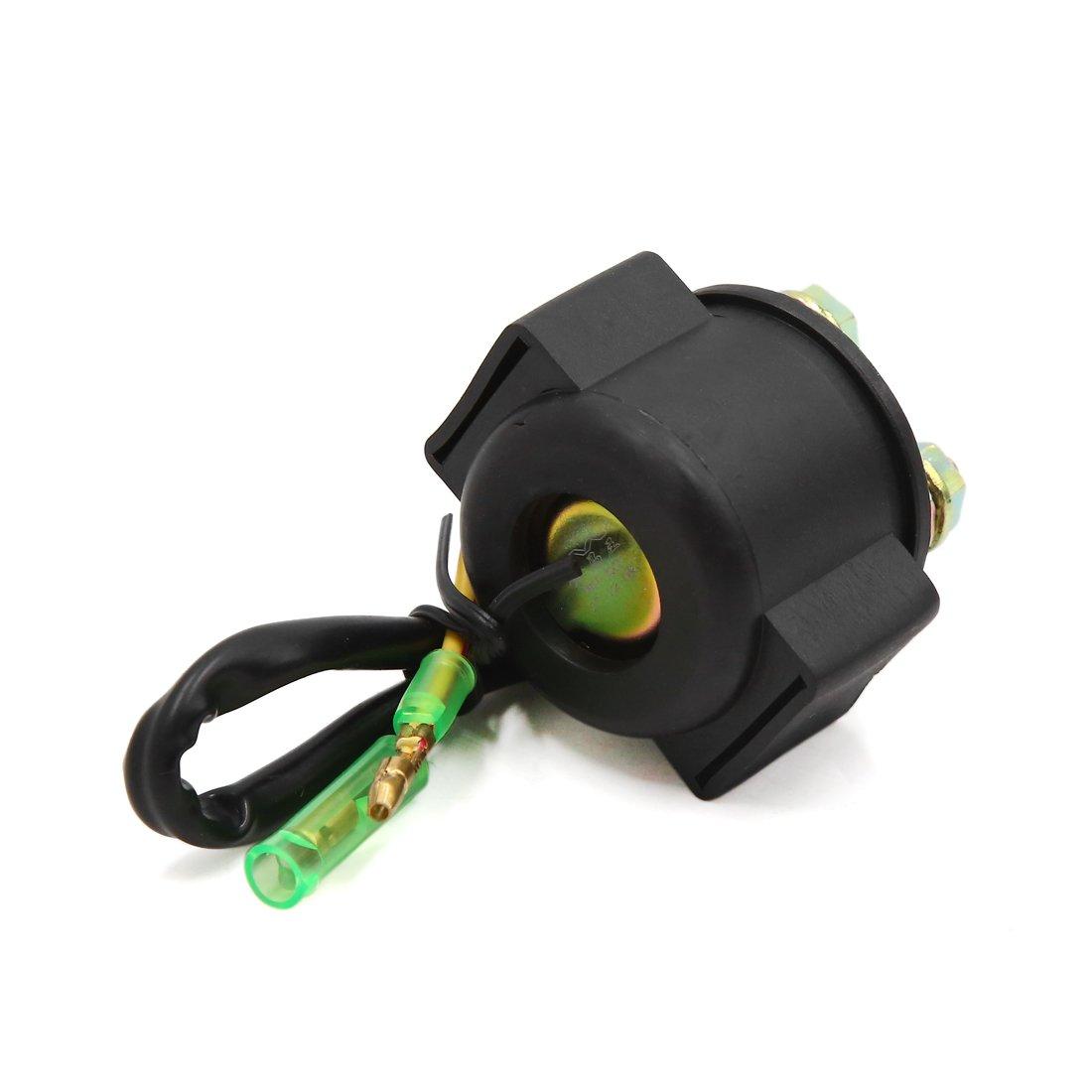 Rel/é solenoide de arranque para motocicleta 12 V, 2 cables, para Honda CG125 Sourcingmap