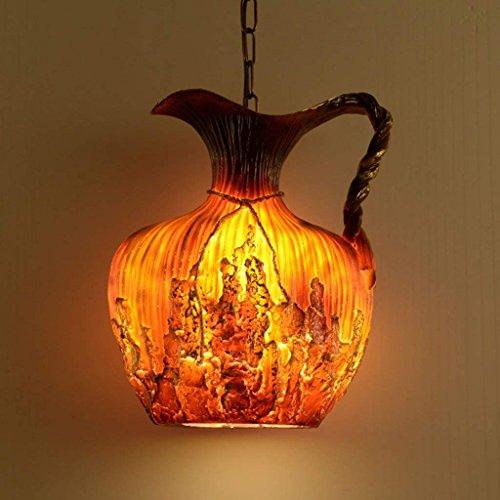 Hars Flagon kroonluchter, creatieve retro restaurant bar kas decoratie kroonluchter internet cafés studio verlichting lampen en lantaarns enkele kop E27, 36 * 40 cm (grootte: 36 * 40 cm)