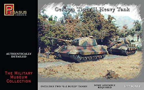 Pegasus pg7627–1/72 Tiger II Plastique modèle Kit, Lot de 2