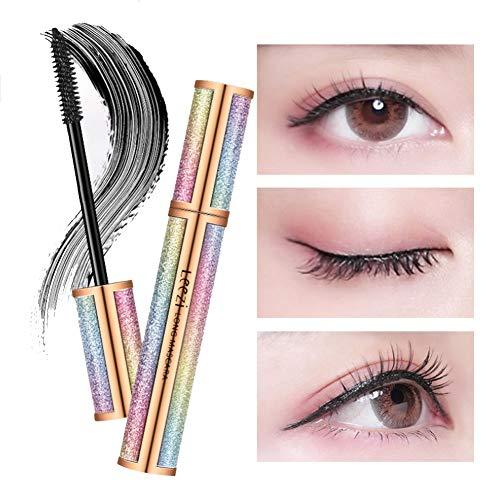 WGXY 4D Fibre Silk Lash Mascara Waterproof pour Plus épais Volumineux Cils naturels maculage Tous Les Jours Délicieusement Long et épais sans bavure Cils (Noir)
