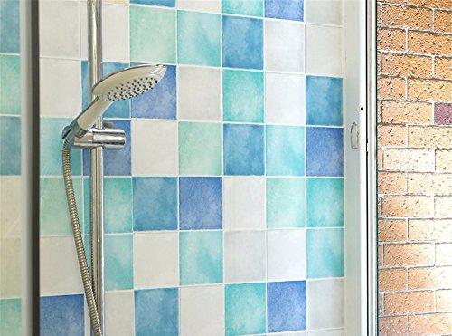 Tapete Selbstklebende wasserdichte Toilette dekorative Aufkleber Fliese Paste Verdickung Mosaik Tapete Badezimmer Bad Wandaufkleber, 200 * 60 cm, B