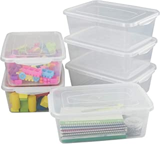 Obston 9 Quart Clear Storage Containers, Plastic Latching Box, 6 Packs