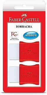 Borracha Branca Pequena com Capa Plástica, Faber-Castell, FC Max, SM/107024, 2 Unidades