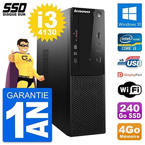 Lenovo PC S500 SFF Intel Core i3-4130 RAM 4 GB SSD 240 GB Windows 10 WiFi (überholt)