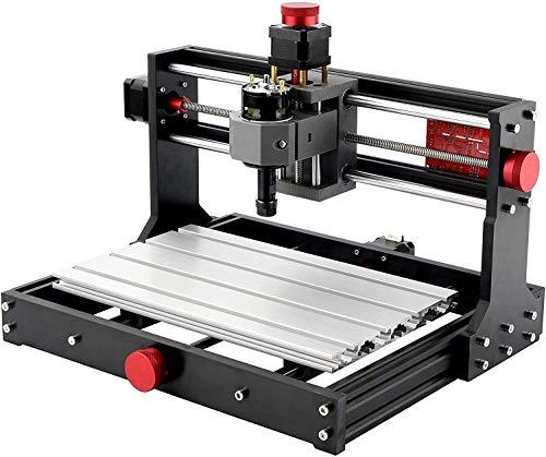 Mostics 2 IN 1 CNC 3018 Pro Fresadoras con módulo láser 5,5W Grabador del CNC Grabador láser Máquina de grabado CNC Máquina de grabado láser CNC de talla CNC router De la máquina