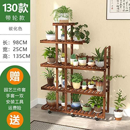 HONIC Holz Blume Rack-Anlagen Stehen Regale Bonsai-Anzeigen-Regal Outdoor Indoor-Garten Terrasse, Balkon, Blumenstände Pflanze Regale: model10