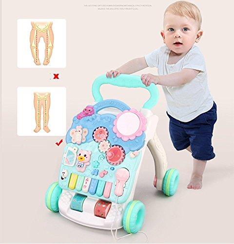 Trotteur 6–7-18 Monate Walker Savon et rollover Musique Multifunktions 1 Jahr Alt bébé Spielzeug chariot