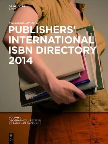 Publishers' International ISBN Directory 2014, 6 Vols.