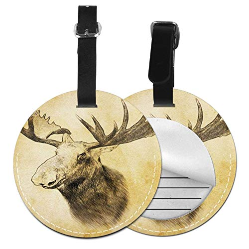 Luggage Tags Head Moose Draw Suitcase Luggage Tags Business Card Holder Travel Id Bag Tag