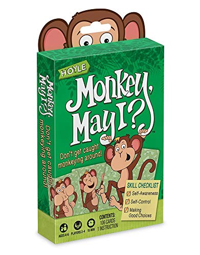 Hoyle Monkey May I - Children's Card Game - Good Choices - Ages 4 to 6 - Kids Card Game
