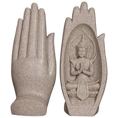 NBHUZEHUA Buddha-Statue, sitzend in der Hand, Kunstharz, Lao Thai Buddha-Figuren, Heimdekoration, Zen