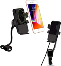 Fabselection Qi Wireless Car Charger with Cigarette Lighter, Wireless Charging Car Mount USB CeliPhone Holder for iPhone 8/8 Plus/X/XR/XS/Samsung Galaxy Note 9/ S8/Note 7oogle Nexus
