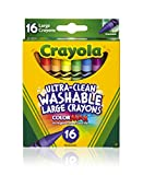 Crayola Washable Crayons, Large, 16 Count